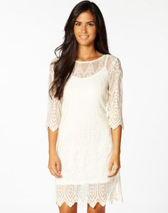 Milk Sheer Lace Dress Front