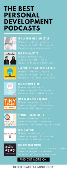Best Personal Development podcasts Infographic #helpPersonalDevelopment