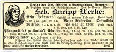 Original-Werbung/ Anzeige 1897 - WERKE SEBASTIAN KNEIPP / KÖSEL'SCHE…