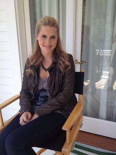Claire Holt on the Set of The Originals