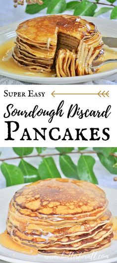 Don't let time stop you from enjoying sourdough pancakes anytime you want them! This Super Easy recipe takes fully fermented sourdough starter and quickly turns it on to a perfect pancake batter that can be cooked almost immediately! Sourdough Pancakes, Sourdough Recipes, Sourdough Bread, Sourdough Starter Discard Recipe, Real Food Recipes, Nourishing Traditions, The Best, Breakfast Recipes, Super Easy