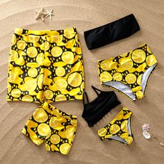 * Please add each size separately to your shopping cart. * Soft and comfy * Material: polyester, Spandex * Machine wash, tumble dry * Imported Couple Outfits, Matching Family Outfits, Cute Lazy Outfits, Outfits For Teens, Mommy And Me Swimwear, Twin Baby Clothes, Baby Swimsuit, Girls Bathing Suits, Cute Swimsuits