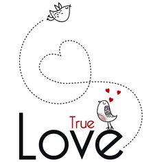Vinilos Decorativos Frases Románticas True Love