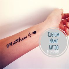 heart beat rate with name - Google Search #TattooIdeasForKidsNames