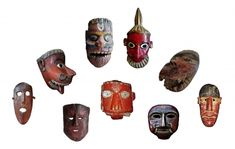 Nepalese Nepal and Indian India masks a touch of red Art Premier, Indian India, Himalayan, Tribal Art, Nepal, Masks, Folk, Prayers, Touch