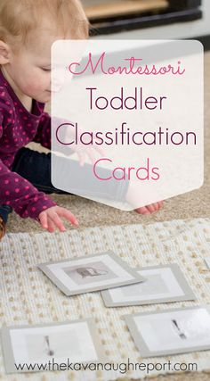 Montessori Toddler Classification Cards with Printable -- these pre-matching cards help toddlers identify objects and begin to classify things into groups. Easy to make and to use, toddlers love these.