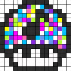 Rave 1up perler bead pattern