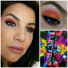 It's day 2 of the Electric Challenge! I was challenged to incorporate shades from the Urban Decay Electric Palette into my eye looks for ...