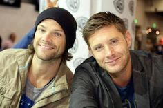 Nerd porn...Jared and Jensen of Supernatural