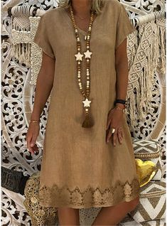 Plus Size Women'S Boho Casual V Neck Dresses Party Evening Summer Short Sleeve Casual Beach Loose Dress Color Green Size S Midi Dress With Sleeves, V Neck Dress, Short Sleeve Dresses, Short Sleeves, Plain Dress, Long Sleeve, Sleeved Dress, Casual Summer Dresses, Summer Dresses For Women