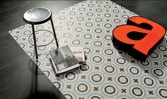 Imitation en grès cérame de carreaux ciment Cementine color - Terre de Bain & de Cuisine