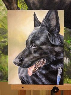 Portrait of Knight - oil painting on canvas