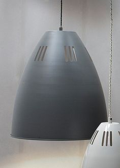 The industrial-style Large Cavendish Pendant Light in Charcoal is timeless yet trendy. It is sturdy and stylish with slotted shade and adjustable cable. Large Pendant Lighting, Ceiling Pendant, Ceiling Lights, Pendant Lights, Ceiling Rose, Kitchen Styling, Industrial Style, Charcoal, Modern