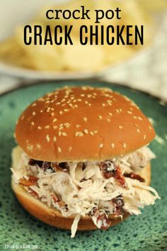 Slow Cooker Crack Chicken Recipe is comfort food in every bite. The cream cheese blended with the ranch and bacon make Crock Pot Crack Chicken amazing. Crock Pot Slow Cooker, Crock Pot Cooking, Slow Cooker Chicken, Crack Chicken Crock Pot, Crock Pots, Cooker Recipes, Crockpot Recipes, Crockpot Dishes, Ww Recipes
