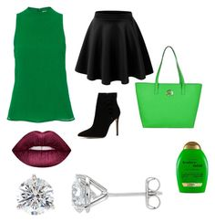 """St Patrick's Day🍀"" by akalwa on Polyvore featuring Protagonist, ALDO, MICHAEL Michael Kors, Lime Crime and Organix"