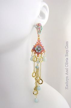 #bohemian #chandelier #earrings #fashion
