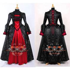 Free Shipping Elegant Gothic Punk Dress Medieval Gown Victorian ROCOCO Dress cosplay Costume Custom-made