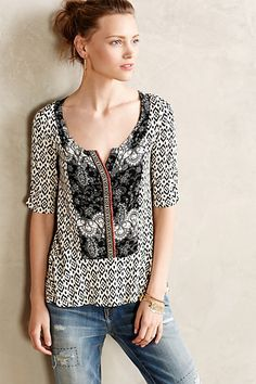 Oh to be able to wear something cute like this again.  Splitneck Peplum Tee - anthropologie.com