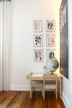 botanical prints on cipboards