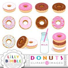 Donut Clipart - Lilly Bimble