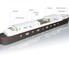 Canal Barge, Canal Boat, Dutch Barge, Living On A Boat, Double Decker Bus, Floating House, Luxury Yachts, Boat Plans, Architecture