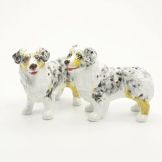 Australian Shepherd Dog Ceramic Figurine Salt Pepper Shaker 00020 Ceramic Handmade Dog Lover Gift Collectible Home Decor Art and Crafts by Australian Shepherd - madamepOmm -. $59.00. Australian Shepherd Dog Lover Ceramic Original Handmade Hand Paint Salt and Pepper Shaker Figurine Ceramic Home Decor Collectibles  Made of ceramic porcelain high fired interior apply clear under-glaze, food safe painted with attention hand painted acrylic paint then apply clear gloss protected.  ...