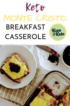 If you've had the classic Monte Cristo sandwich you know a gooey warm casserole version HAS to be good! If you've had the classic Monte Cristo sandwich you know a gooey warm casserole version HAS to be good! Paleo Recipes, Low Carb Recipes, Great Recipes, Cooking Recipes, Candida Recipes, Yummy Recipes, Keto Diet Breakfast, Breakfast Recipes, Breakfast Ideas