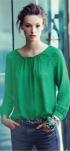 """J. Crew """"Emerald City"""" - details are what make a piece of clothing."""