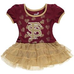 Florida State Seminoles Girl's Infant Love To Dance Tutu Dress - Garnet/Vegas Gold - $29.99