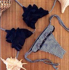 Women's Sexy Mesh Bikini Set Hollow Out Tops Bandage Swimsuit Strappy Swimwear Sexy Mini String Thong Black Bikini Set, The Bikini, Bikini Beach, Cheeky Bikini, Bikinis, Bikini Swimwear, Bandeau Bikini, Triangle Swimwear, Bikini 2017