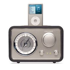 -Crosley CR3009A-BK Isolo Radio with Dock for Ipod/Iphone