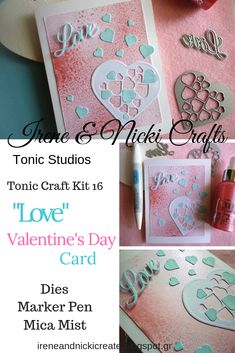 Hello everyone, we're sharing a quick and easy, but pretty St. Valentine's Card today using just two dies and supplies from the Tonic Craft Kit 16 (UK) Love Valentines, Craft Kits, Hello Everyone, Irene, Studios, Magazine, Pretty, Easy, Projects