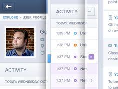 Dribbble - Profile Activity Web App UI UX by Mason Yarnell
