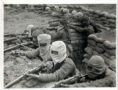 Indian soldiers. The First World War was the first war in which manufactured poison gas was used as a weapon on a large scale.
