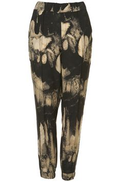 Feather Print Woven Joggers