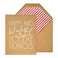 I love the simplicity of this Holiday Card. (via Sugar Paper)