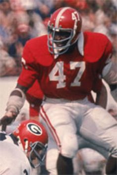 Woodrow Lowe, LB; Three time All American 1973,1974, and 1975; Record for most tackles in a year; 3rd all time tackle records; 4 SEC championships and a National Championship; # 8 of Tide's Top 50