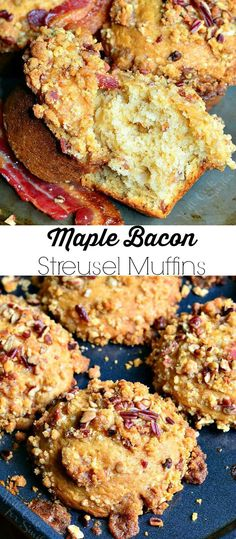 Maple Bacon Streusel Muffins | from willcookforsmiles.com
