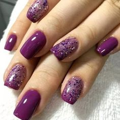 65 Most Eye Catching Beautiful Nail Art Design You May Love Idea 29 – – Nagelpflege Purple Nail Designs, Short Nail Designs, Nail Art Designs, Nails Design, Purple Nails With Design, Gel Polish Designs, Nagel Stamping, Nagellack Design, Gel Nagel Design