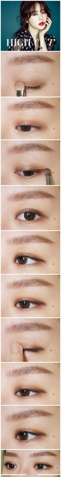 note eyeshadow placement Más