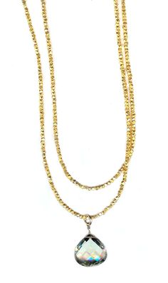 This long handcrafted gold chain is timeless.The nuggets are 22k vermeil, gold over silver. The golden necklace can be wrapped twice around your neck or worn long.  Vermeil necklaces, vermeil nugget chain without a pendant