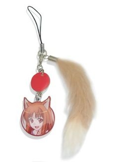 Spice and Wolf Cell Phone Charm: Holo and Tail