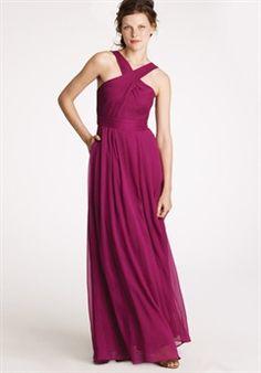 jcrew bridesmaid dress -- in emerald & shorter.