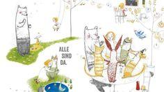 """""""Unter all den knallbunten, expressiven Bilderbüchern fallen Julie Völks zarte, verspielte (...) Zeichnungen aus dem Rahmen. Dazu passt der sparsame, lautmalerische Text von Antonie Schneider besonders gut, der (...) viel Raum lässt für das Weiterspinnen der Geschichte."""", Rezension zu Antonie Schneider / Julie Völk: 'Ist Ida da?' von Hilde Elisabeth Menzel auf Sueddeutsche.de"""
