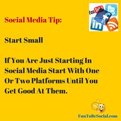 There is no need to rush in and start on 5 social media platforms. Learn 1 or 2 social media platforms first. Get really good at them build an audience and be more available when your customers engage. After awhile you can add another social media platform. #socialmedia #socialmediamarketing #digitalmarketing #business #contentmarketing