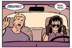 Clint Barton and Kate Bishop in Hawkeye vol. 4 #3.