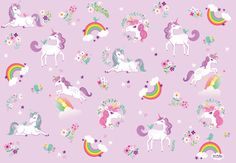 A set of three (3) rolled sheets of gift wrap, illustrated with fancy unicorns & rainbows. Printed in full color on thick, luxurious paper. Can be used to wrap a special gift, and also great as drawer liners, for scrapbooking, book covering, wall art, etc.  A set of three (3) rolled sheets Each sheet is 20 x 29 inches full color Designed in Connecticut Printed in the USA  THE ARTIST: Sara is an illustrator and graphic designer. For many years she worked in the fashion industry, although s...