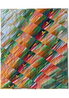 Ursula König Art Quilts - another great quilt using unexpected angles