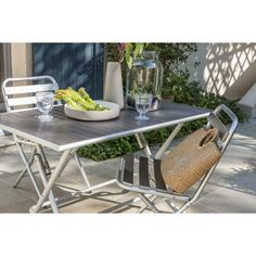Table de jardin rectangle Aluminium 160x90 cm Bronze CREATION €369 ...