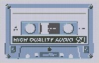 Cassette Tape Cross Stitch Pattern, an ebook by Mother Bee Designs at Smashwords